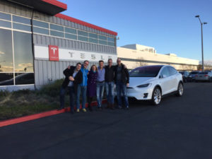 Executive MBA students at Tesla in Silicon Valley