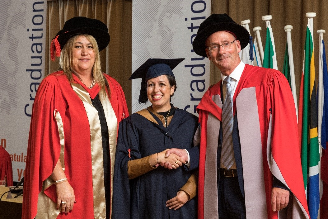 Juanita Bouwer MBA, BSN Alumna Karima Bouzar MBA and Marcel van der Ham