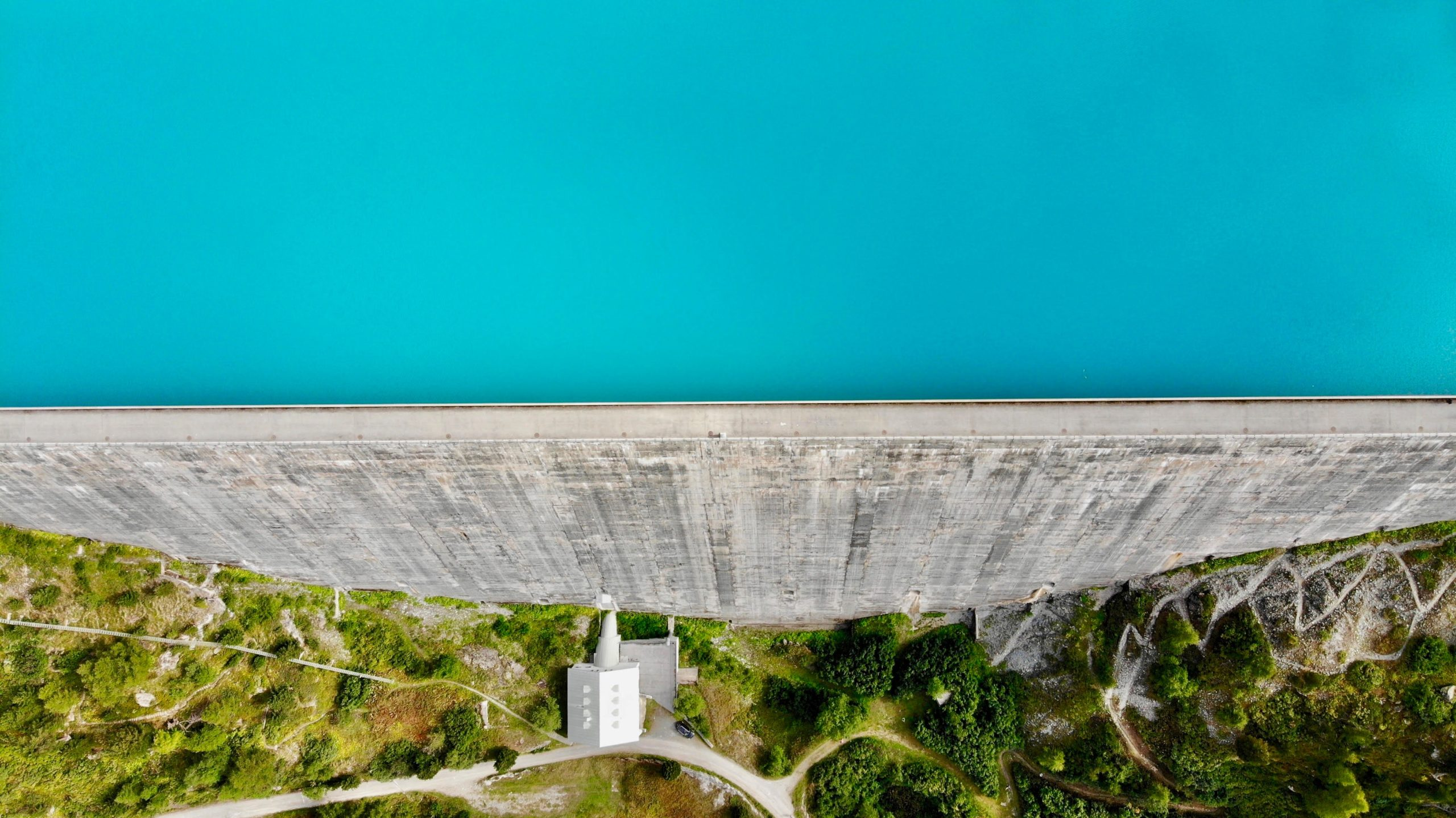 water in a dam